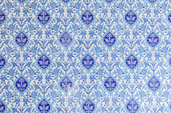 Floral mosque tiles. Image of decorative blue floral mosque tiles.l Stock Image