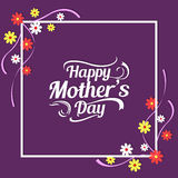 Floral mother's day card Stock Images