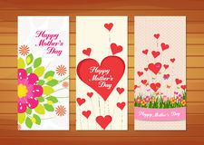 Floral Mother's Day Cards. Happy mother day with elements card and background for design Stock Image