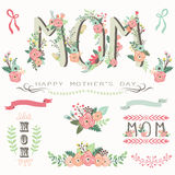 Floral Mother`s Day Collections. A vector illustration of Floral Mother`s Day Collectionss. Perfect for Mother`s day, Thanksgiving, greeting card and many more royalty free illustration