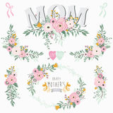 Floral Mother`s Day Collections. A vector illustration of Floral Mother`s Day Collections. Perfect for Mother`s day, Thanksgiving, greeting card and many more vector illustration