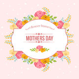 Floral mothers day. Card in floral theme for mothers day Royalty Free Stock Photography