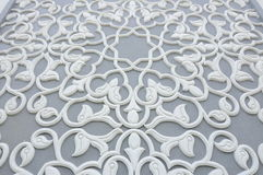 Floral motif carving pattern made from GRC at building exterior Stock Photography