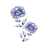 Floral Motif Design Stock Images