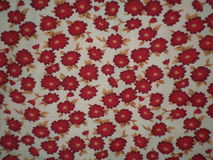 Floral motif tablecloth Royalty Free Stock Image