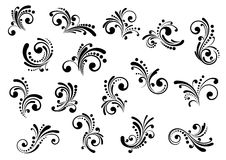 Floral motifs and design elements Royalty Free Stock Photos
