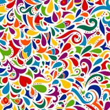 Floral multicolored mosaic leaf pattern. Royalty Free Stock Photo