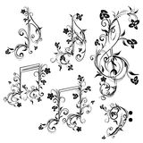 Floral Music Notes Royalty Free Stock Photo