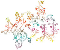 Floral Music Notes Stock Image