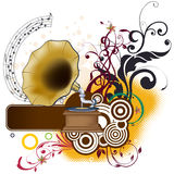 Floral Music Vector Design Stock Image