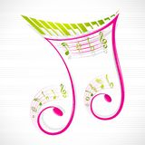 Floral Musical Note. Vector illustration of colorful floral musical note vector illustration