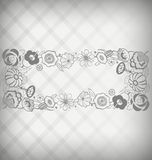 Floral nameplate Royalty Free Stock Photo