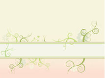Floral nature background. Floral nature banner background, fully editable in separate layers Stock Photo
