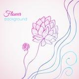 Floral nature background concept. illustration. Template for your design stock illustration