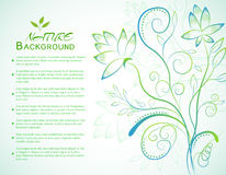 Floral nature background concept. Vector. Illustration template for your design royalty free illustration