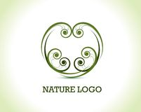 Floral nature logo royalty free illustration