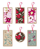Floral, nature tags, pattern, texture Royalty Free Stock Photo