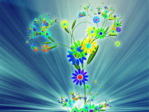 Floral nature themed design illustration Royalty Free Stock Photo