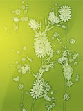 Floral nature themed design illustration Stock Image