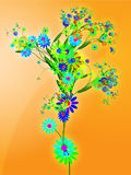 Floral nature themed design illustration Royalty Free Stock Photography