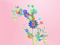 Floral nature themed design illustration Royalty Free Stock Photos