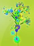Floral nature themed design illustration Stock Images