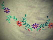 Floral needlework Royalty Free Stock Images