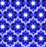 floral neon laser white blue seamless background Royalty Free Stock Image