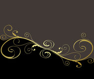 or floral noir de fond illustration stock