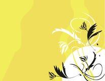 Floral noir jaune Photographie stock libre de droits