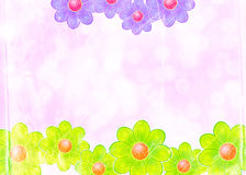 Floral Note Paper Royalty Free Stock Image