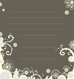 Floral notebook template Royalty Free Stock Image