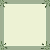 Floral Notepaper Border Frame. Floral green and yellow notepaper border frame vector illustration
