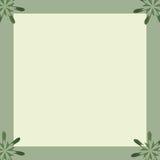 Floral Notepaper Border Frame. Floral green and yellow notepaper border frame Stock Photography