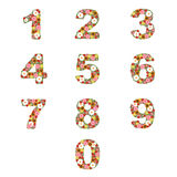 Floral numbers stock illustration