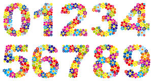 Floral numbers Stock Photo