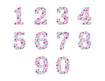 Floral Numbers. The numbers 1 through 10 written with flowers Stock Images