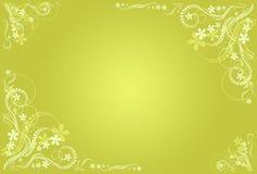 Floral ocher artistic frame Stock Images