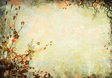 Floral old background Royalty Free Stock Photo