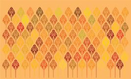 Floral orange background with bright decor. royalty free illustration