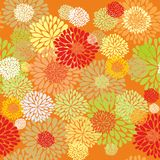 Floral orange pattern Royalty Free Stock Photography