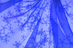 Floral organza  as abstract wave  background Royalty Free Stock Photos