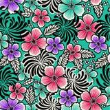 Floral oriental ilustração do vetor