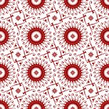 Floral Oriental, Arabic, Islamic, Ornament, Geometric in White and Red Seamless Vector Pattern Tile Texture Background stock illustration