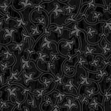 Floral oriental black isolated seamless background Royalty Free Stock Photography