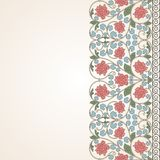 Floral oriental pattern in vintage style Stock Images