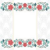 Floral oriental pattern in vintage style Stock Photos