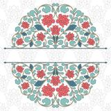 Floral oriental pattern in vintage style Stock Image
