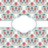 Floral oriental pattern in vintage style Stock Photography