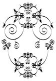 Floral ornament. Black and white floral ornament Royalty Free Stock Photos
